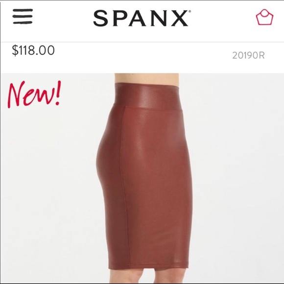 0a098e8bb4 SPANX Skirts | Faux Leather Pencil Skirt | Poshmark